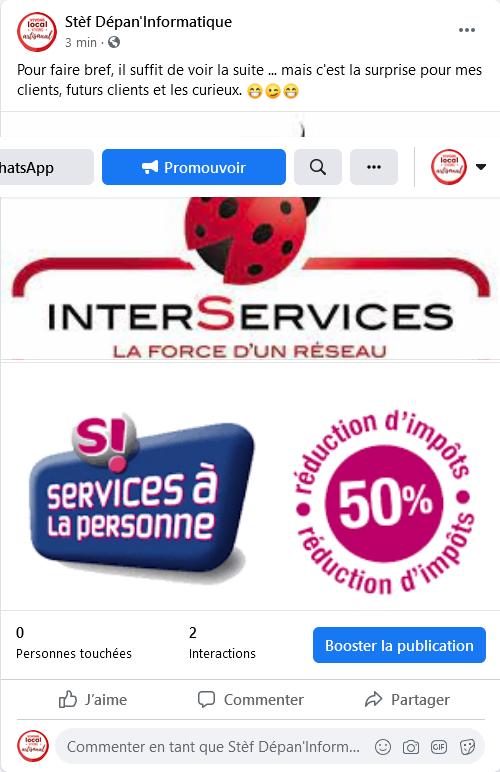 Inter Services par stef depan informatique depuis facebook